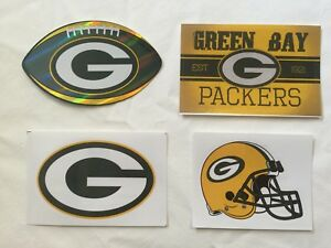 NFL-Green-Bay-Packers-Sticker-Package-Logo-Helmet-Football-Vintage-Stickers-NEW