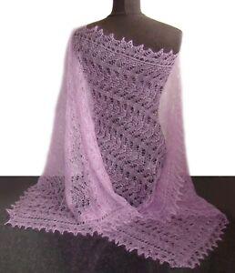 Etole Russe Couleur Lilas Chale Lilas Pour Robe Soiree Etole Lilas Tricote Ebay