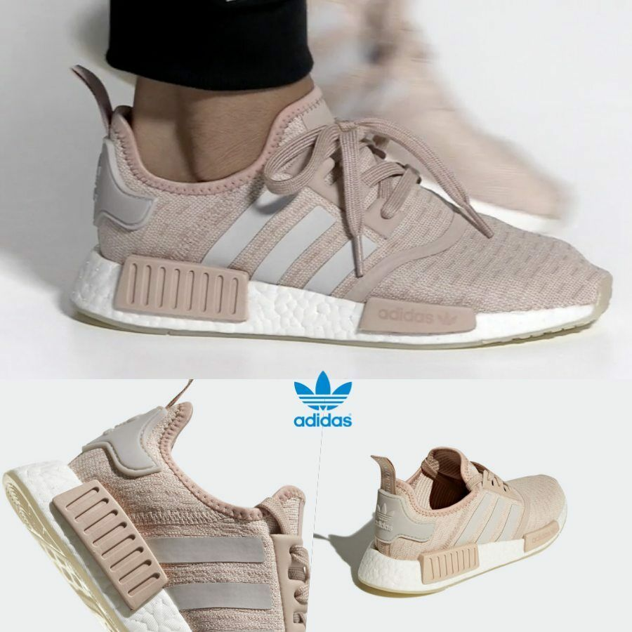 Adidas Original NMD R1 Runner Boost Shoes Running Pink bianca CQ2012 SZ 4-11