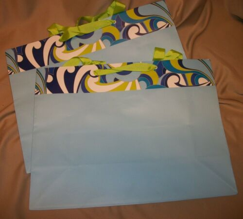 "ASSORTED LARGE GIFT BAGS 12/"" x 16/"" x 6/""   NEW 4 styles 2 bag lot"