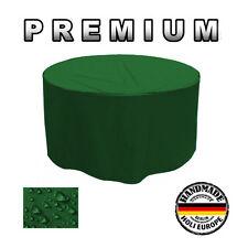 Gartentisch Abdeckung Gartenmöbel Schutzhülle RUND ø 200cm x H 75cm Tannengrün