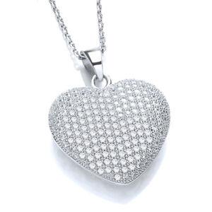 JJAZ-925-STERLING-SILVER-CZ-CRYSTAL-HEART-PENDANT-Women-Necklace-Valentines-gift