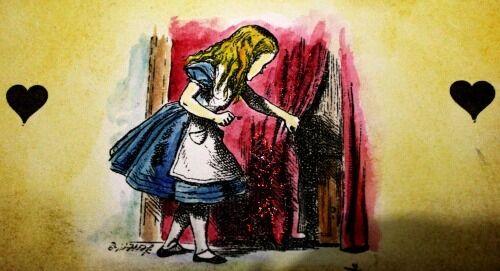 Vintage Alice in Wonderland Sign Decoration FOLLOW THE WHITE RABBIT