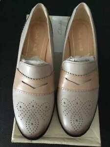 Clarks-Netley-Lola-Light-Grey-Combo-Brogue-UK-6-1-2