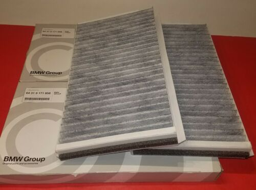 BMW Cabin Air Filter Set 04-07 525i 528i 530i 545i 650i 645i GENUINE 2 Filters