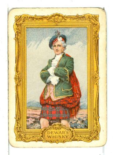 "Single Vintage Wide Playing Card /""Scotsman/"" DeWar/'s Whisky"