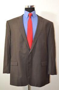 Kenneth-Cole-50R-Sport-Coat-Blazer-Suit-Jacket-Dark-Brown-Wool