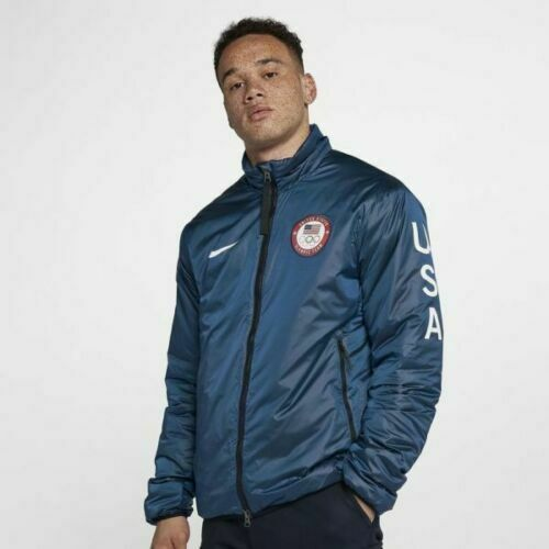 Cartero Recuerdo ajustar  Mens Nike NikeLab Team USA Winter Olympic Summit Jacket 916645-474 NEW Sz  XL for sale online