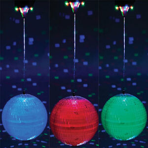 Disco 20cm Mirror Ball Motor 8 Led 39 S Rotating Colour