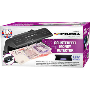 ELECTRIC DETECTOR UV COUNTERFEIT FAKE BANK NOTE MONEY FORGERY NOTES FORGE GIFT