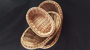 Oval-Shape-Food-Bread-Fruit-Wicker-Basket-Small-Bathroom-Home-Gift-Storage-new