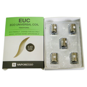 5 Resistance coil VAPORESSO EUC-CLAPTON 0,4Ohm - VECO, ESTOC, TARGET PRO, GEMINI - France - État : Neuf: Objet neuf et intact, n'ayant jamais servi, non ouvert, vendu dans son emballage d'origine (lorsqu'il y en a un). L'emballage doit tre le mme que celui de l'objet vendu en magasin, sauf si l'objet a été emballé par le fabricant d - France