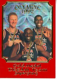 1992 OLYMPIC GOLD MEDAL DREAM TEAM Jordan/Bird/Magic SUPERSTARS LIMITED EDITION