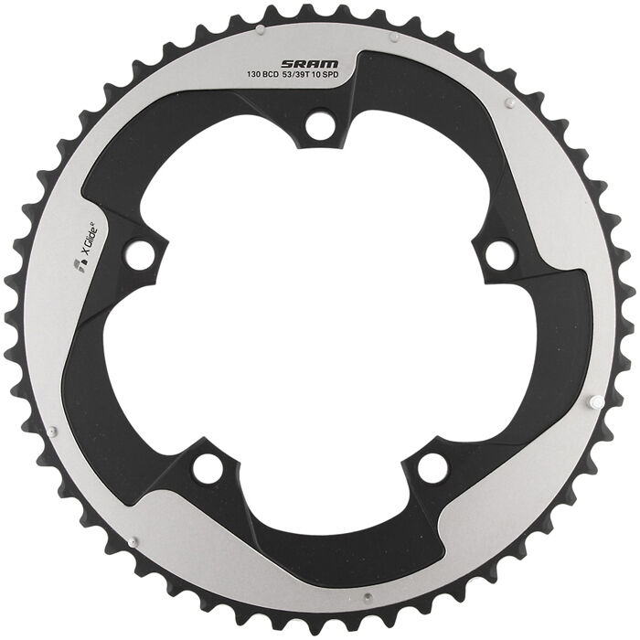 SRAM Red Yaw 2x10 Speed Alloy Hidden Bolt Chainring 130mm BCD - 53t