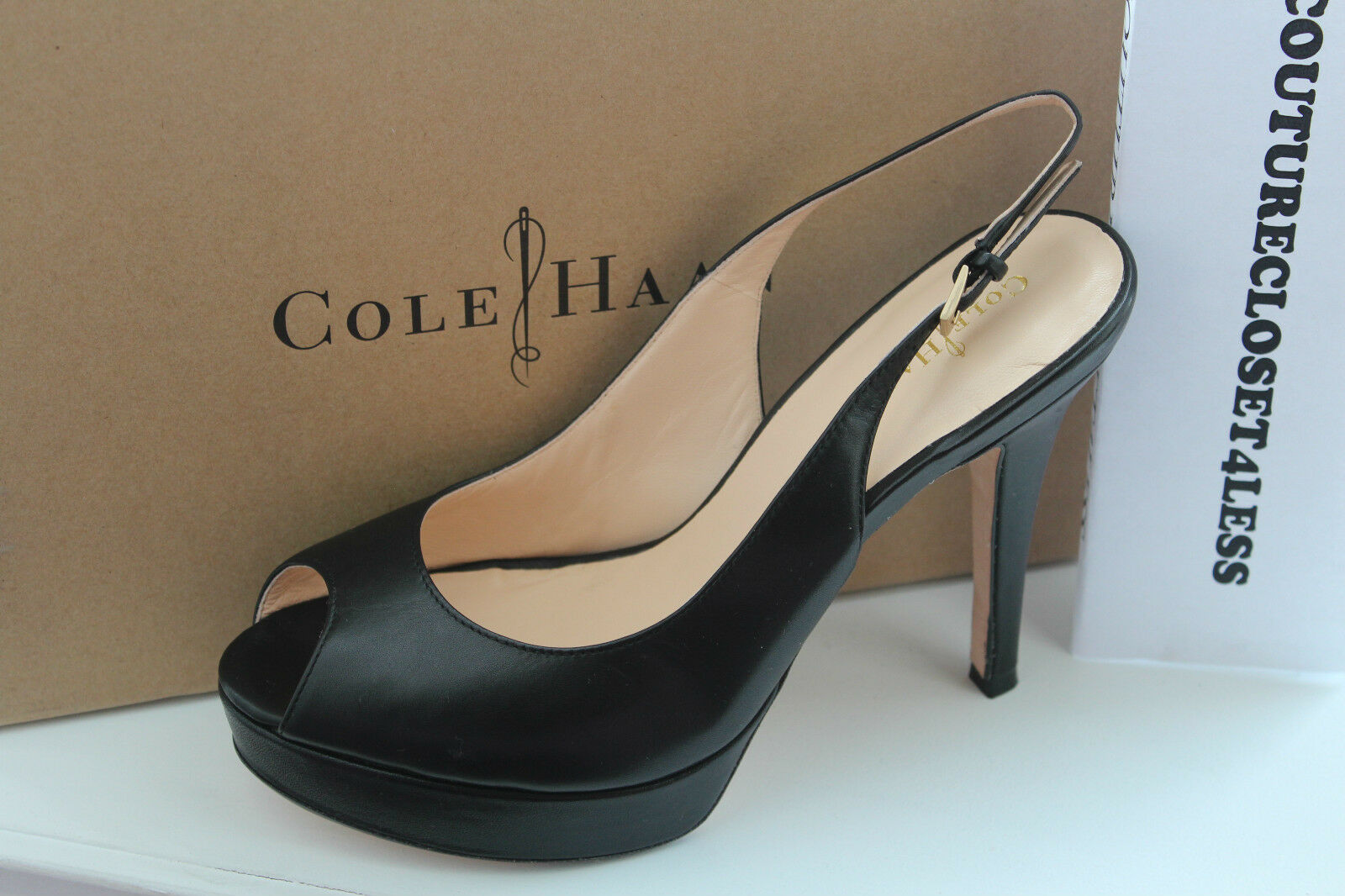 COLE HAAN MARIELA AIR OT SLING schwarz LEATHER LEATHER LEATHER  8.5us  328 609319