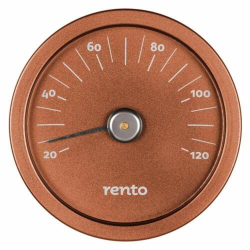 Braun Sauna Thermometer Rento Cooper Brown Kupferbraun,Klimamesser,Aluminium