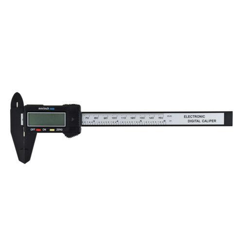 150mm Vernier Caliper LCD Digital Electronic Carbon Fiber Gauge Micrometer