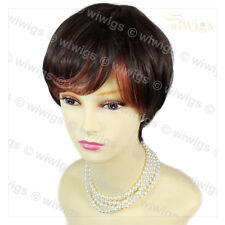 Wiwigs Short Classic Natural Style Dark Brown & Red Ladies Wig