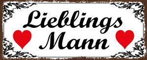 Favorite Mann Tin Sign Shield Arched Metal 10 X 27 CM K1990