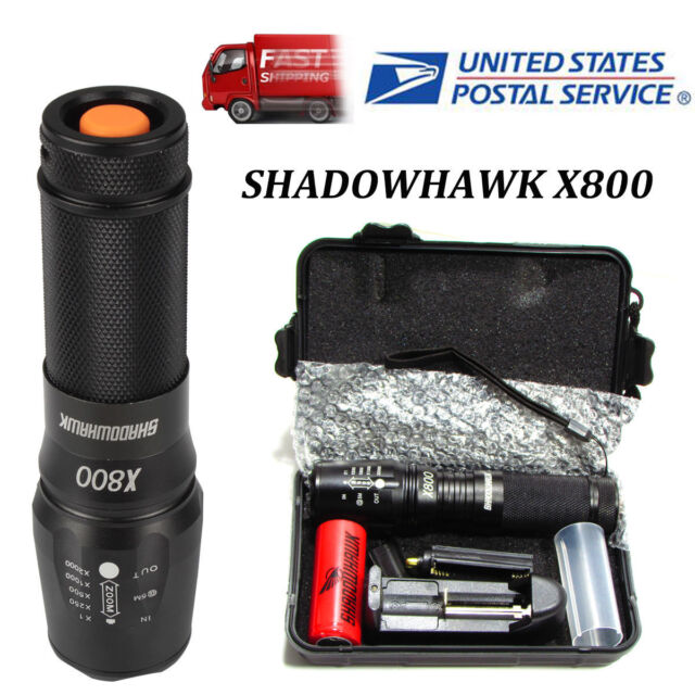 Special Bright X800 Tactical Flashlight LED Zoom Military Torch G700