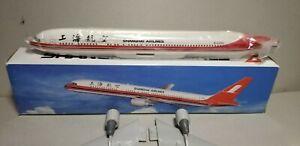 FLIGHT-MINATURE-SHANGHAI-AIRLINES-767-300-1-200-SCALE-PLASTIC-SNAPFIT-MODEL