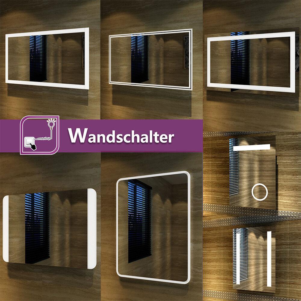 Badspiegel Lichtspiegel Kupfer bleifreie LED Spiegel Wandspiegel kaltweiß IP44