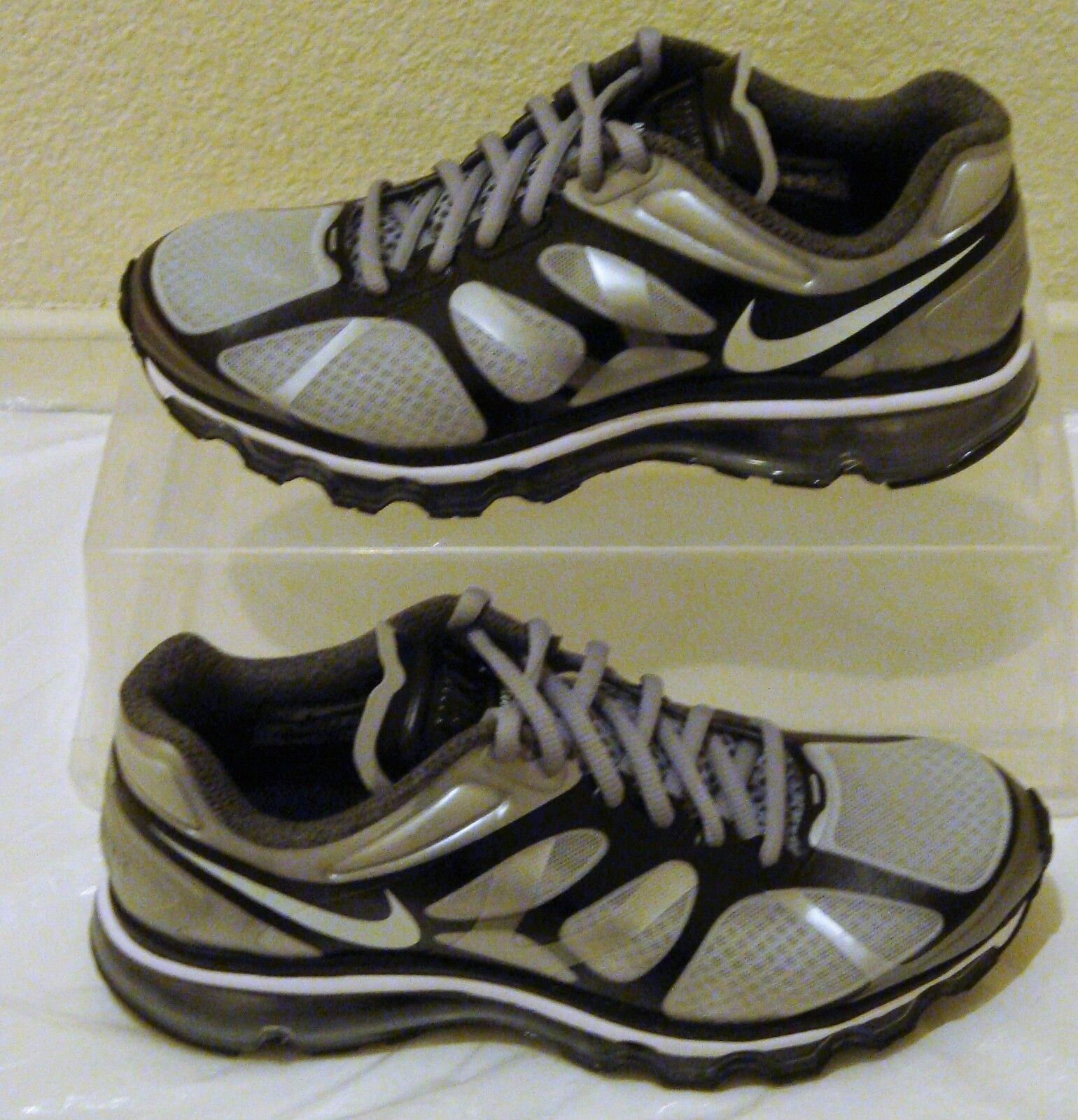 New Nike Air Max 2012 Grey Black Mens US Size 7.5 CM 25.5