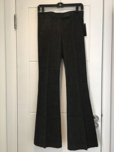 Theory New extensible 4 Uk Xs Pantalon 6 noir Nwt 00 évasée en Xxs jambe Us denim 0 FxpFqr