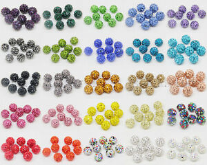 20Pcs-Good-Quality-Czech-Crystal-Rhinestones-Pave-Clay-Round-Disco-Ball-Beads