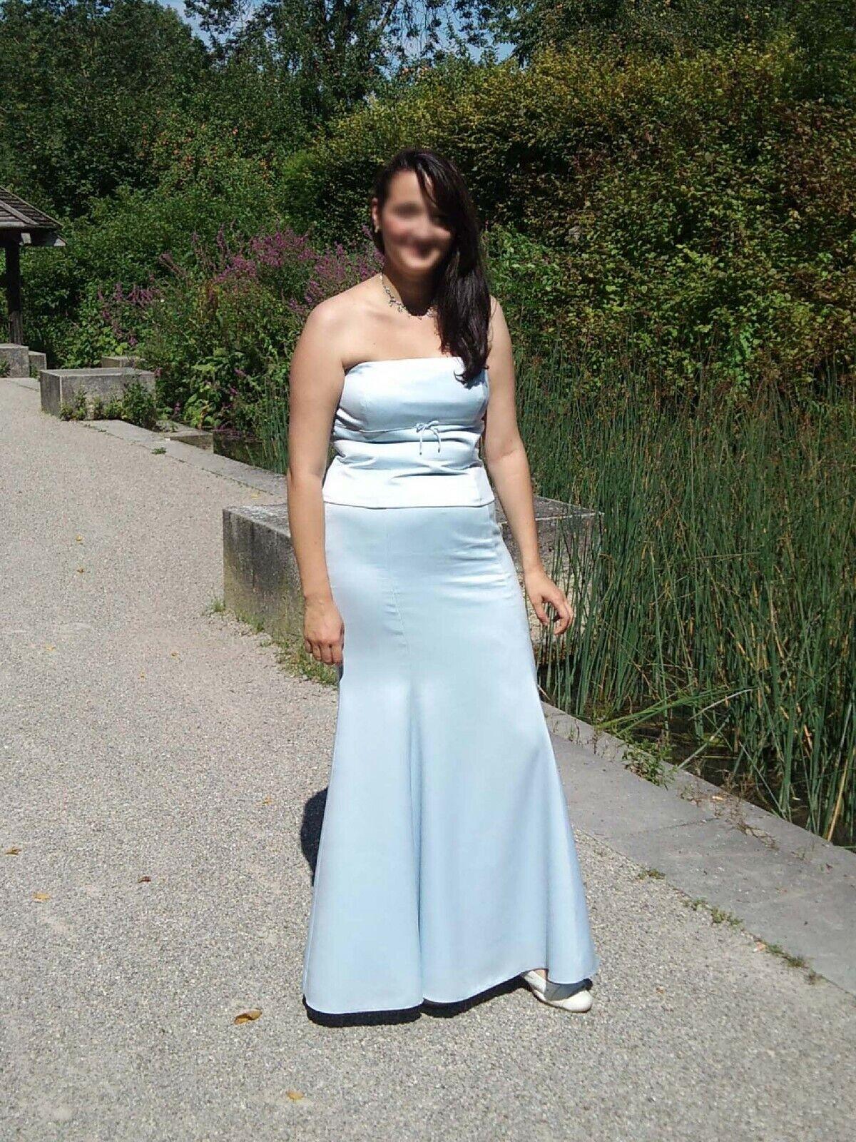 Abendkleid Ball Fest Brautjungfern Meerjungfrau DaMänner Kleid Tüll Pailletten lang