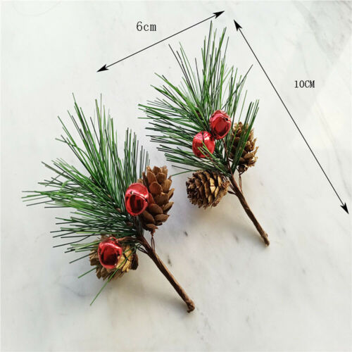 5PCS Christmas Artificial Berry Pine Cone Branches Fake Flower Wreath Xmas Decor