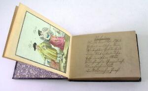 handgeschriebenes-antikes-Poesie-Album-von-1852-mit-antiken-Stichen