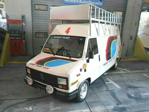 PEUGEOT J5 Van Service Van Rallye WM für 205 T16 Transporter Otto NEU NEW 1:18