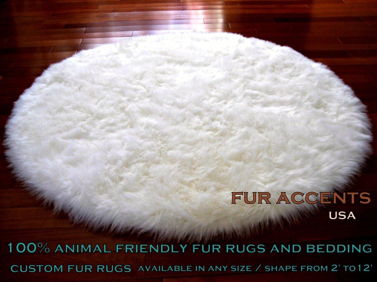Clic Round Shaggy Rug Sheepskin Area