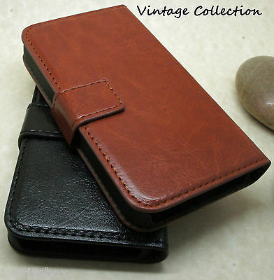 Premium Vintage Leather Flip Case Wallet Cover For New Samsung Galaxy Models