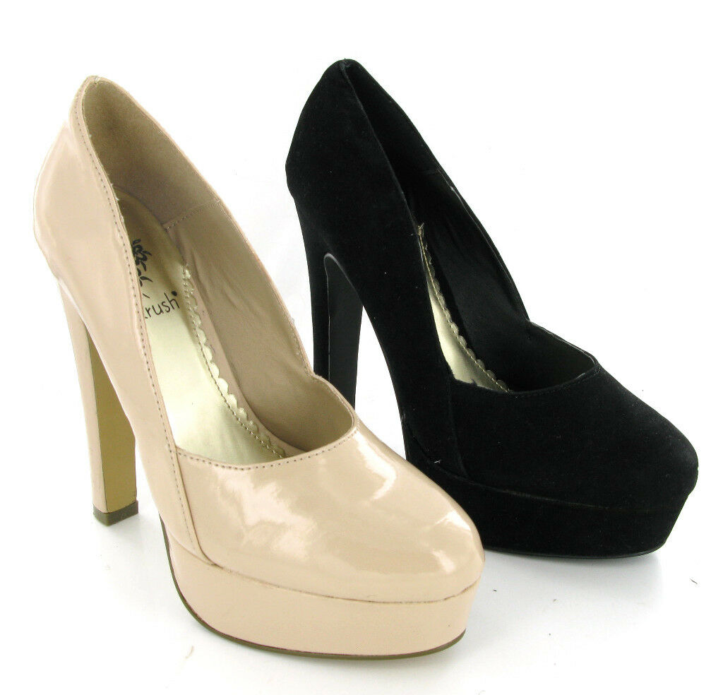 HIGH HEEL PARTY PLATFORM  COURT BLACK SIZE OR CREAM WOMENS SHOES SIZE BLACK 3-8 e27f4f