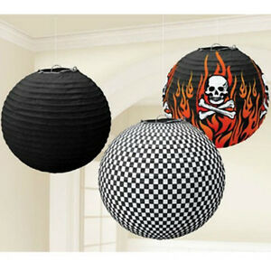 ROCK-ON-SKULL-AND-FLAMES-PAPER-LANTERNS-3-Birthday-Party-Supplies-Decorate