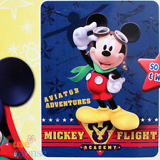 Disney Mickey Mouse Raschel Mink Plush Blanket Twin - Mickey Flight Academy