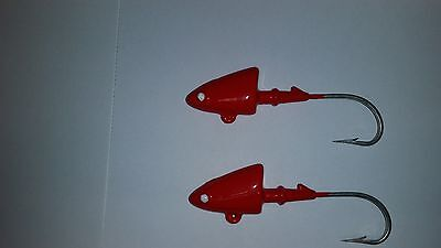 1 OZ SHAD HEAD JIGS WITH 635 HEAVY WIRE HOOK SUPER SHARP FROM LOUIE/'S LURES