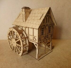 28mm-Fantasy-Tudor-Style-Watermill-2mm-MDF-Laser-Cut-Kit
