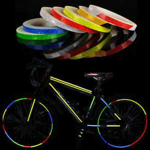 Motorrad Reflektor Streifen Band Sticker Fahrrad MTB Reflektierend Folie Neu