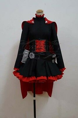 New RWBY Ruby Rose Cosplay Costume Fancy Red Dress & Cloak cosplay FANCY