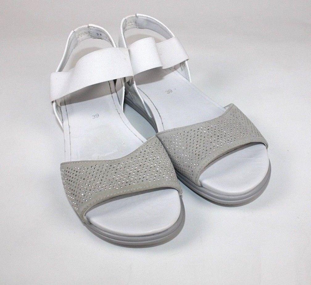 Ara  Bride escarpins gris blanc argent fines largeur 39 Neuf  580843901235912