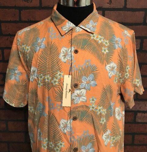 Tommy Bahama Hawaiian Tropical Button Front Silk Shirt Size Medium NWT