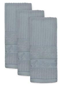 grey tea towels pack of 3 large woven kitchen tea towel