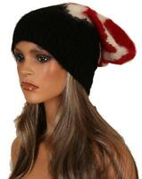 NEW PRADA CASHMERE WOOL BLEND BLACK RED WHITE CHIC BERET HAT ONE SIZE