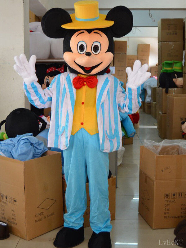 Disney Navy Blue Mickey Mouse Mascot Costume Party Game