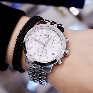 TISSOT-T0554171101700-White-Dial-Silver-Tone-T-Sport-Chrono-Men-039-s-Quartz-Watch