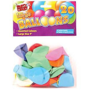 20-x-Assorted-Colours-Large-9-034-Party-Wedding-Helium-Quality-Balloons-Birthdays