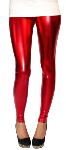 LONG longueur Legging Ultrashine avec Spandex TAILLES 8-18 Haut